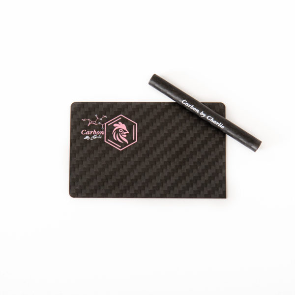 Pure Carbon Fibre Card and Straw – Pink & White