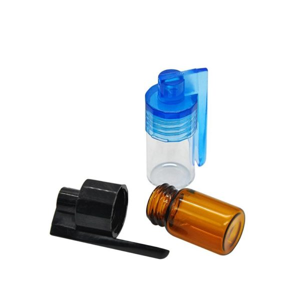 Small Glass Vial Snuff with Spoon Cap
