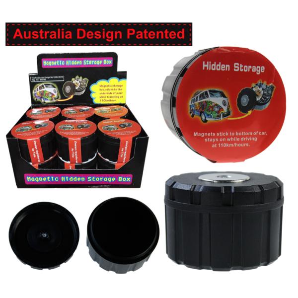 Magnetic Hidden Storage Box - Round