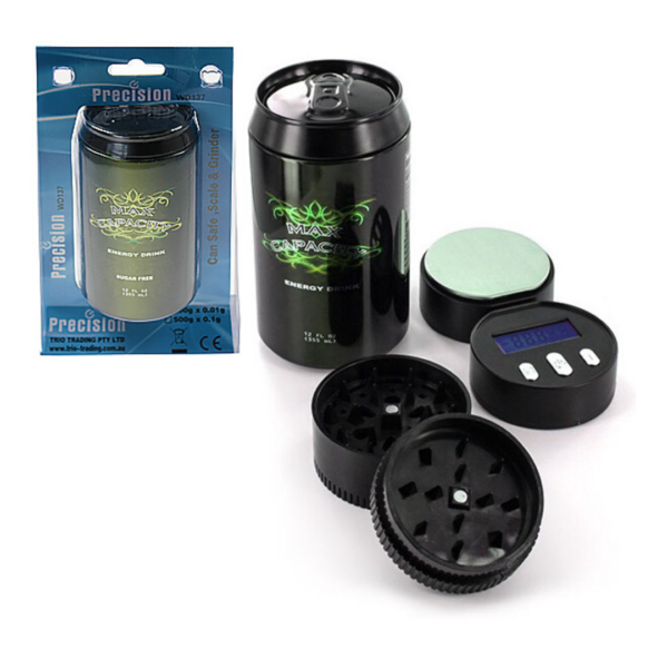 Energy Drink Safe Can, Scale with Grinder (001g/100g) - WD 137