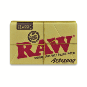 RAW Classic Rolling Papers Artesano 1 ¼ with Tray, Papers & Tips