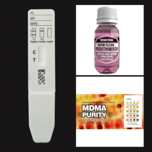 MDMA Purity EZ Test Kit + MDMA Saliva Test + Rapid Clean Mouthwash