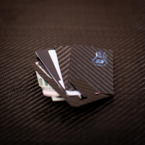 2D Invisible Flat Carbon Fibre Wallet/Clip