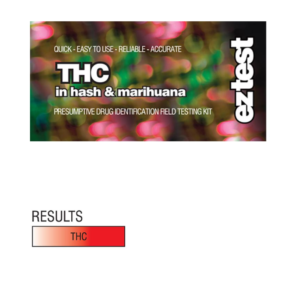 THC: EZ Test Tube for THC in Hash and Marihuana (Marijuana)