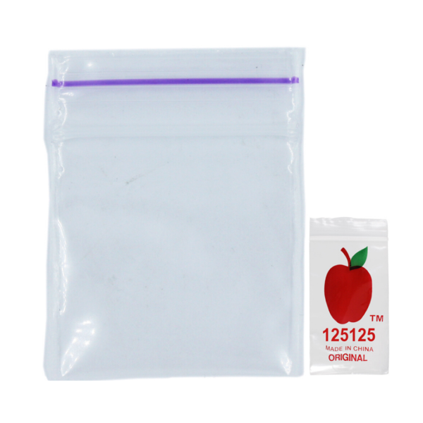 Original Apple Mini Ziplock Bags - Clear (30mm x 30mm) x100