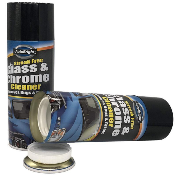 Diversion Stash Safe - Autobright Glass & Chrome Cleaner Can