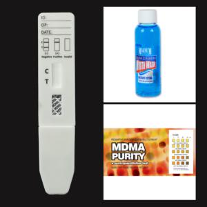 MDMA Purity EZ Test Kit + MDMA Saliva Test + Magnum Detox Saliva Cleansing Mouthwash