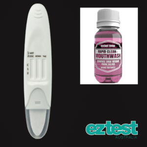 4-in-1 Saliva Test + 50ml Rapid Clean Mouthwash