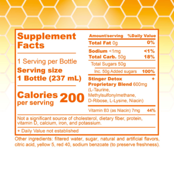 Stinger Buzz 5X Extra Strength Detox Liquid - Peach Lemonade