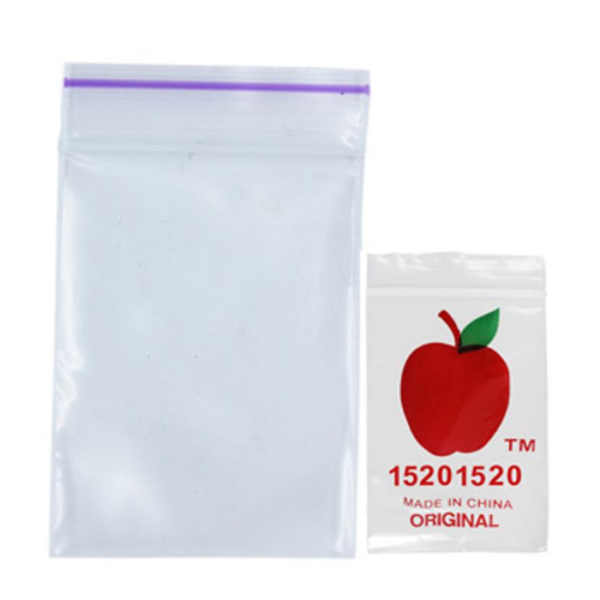 Original Apple Mini Ziplock Bags - Clear (38mm x 51mm) x100
