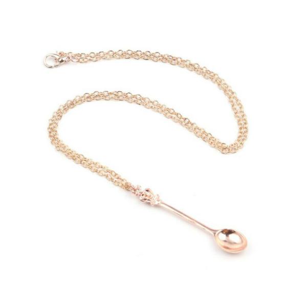 Alice in Wonderland Festival Spoon Pendant Necklace