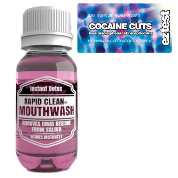 Cocaine Cuts w/ Rapid Clean Mouthwash
