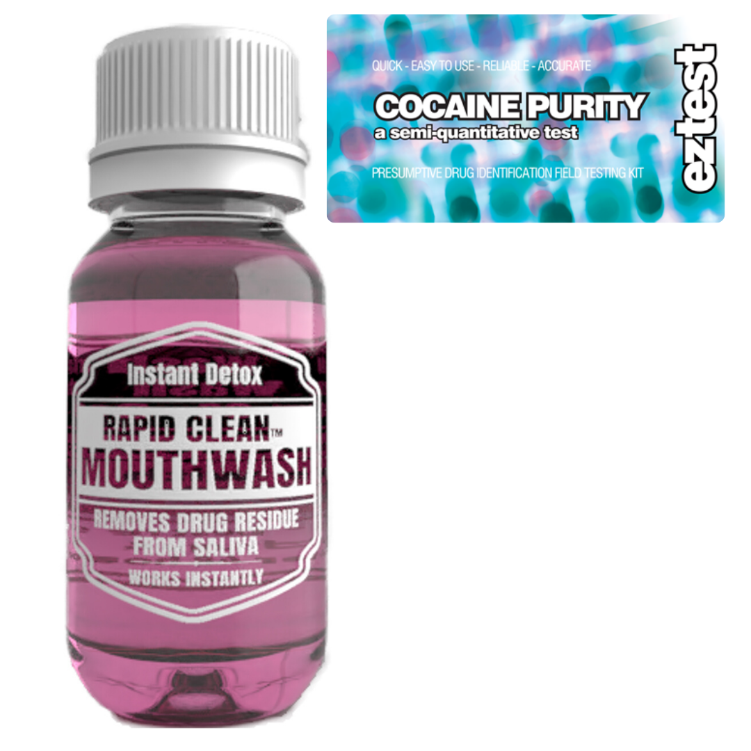 Cocaine Purity w/ Rapid Clean Mouthwash