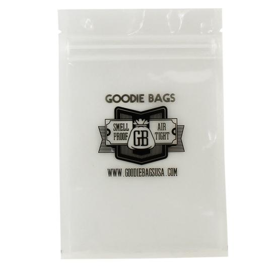 "Goodie Bags Smellproof Ziplock Bags - Medium Clear (4""x6"") x10"
