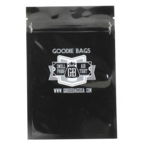 "Goodie Bags Smellproof Ziplock Bags - Medium Black (4""x6"") x10"