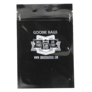 """Goodie Bags Smellproof Ziplock Bags - Medium Black (4""""x6"""") x10"""