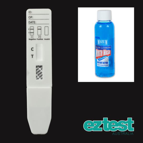 MDMA Single Saliva Test + 60ml Magnum Detox Saliva Cleansing Mouthwash