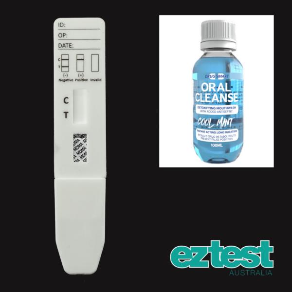 MDMA Single Saliva Test + 100ml Oral Cleanse Mouthwash