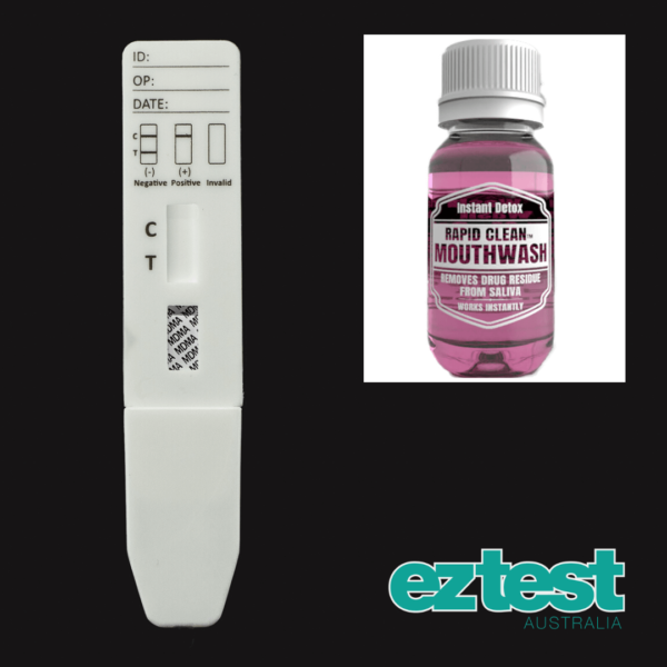 MDMA Single Saliva Test + 50ml Rapid Clean Mouthwash