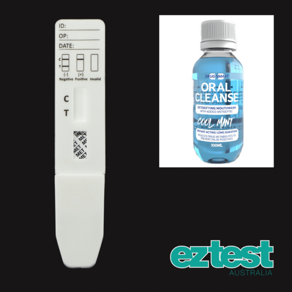MET Single Saliva Test + 100ml Oral Cleanse Mouthwash