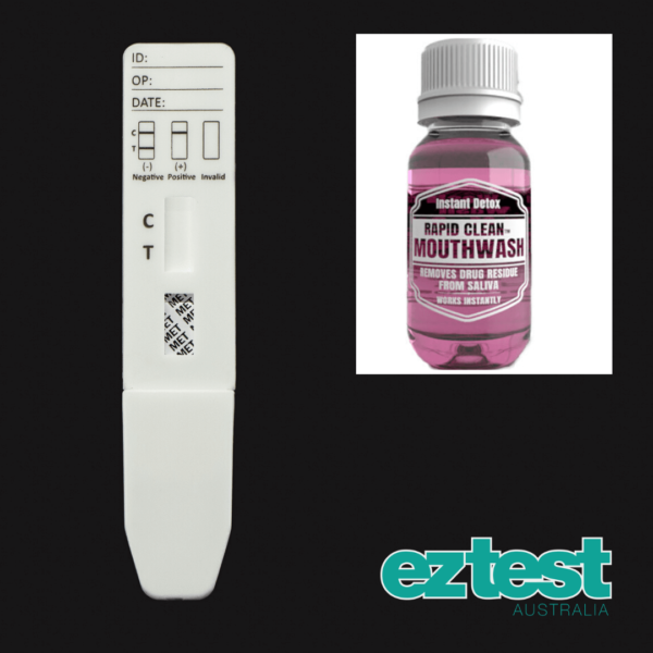 MET Single Saliva Test + 50ml Rapid Clean Mouthwash