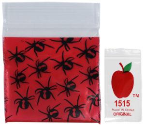 Original Apple Mini Ziplock Bags - Redback Spider (38mm x 38mm) x100