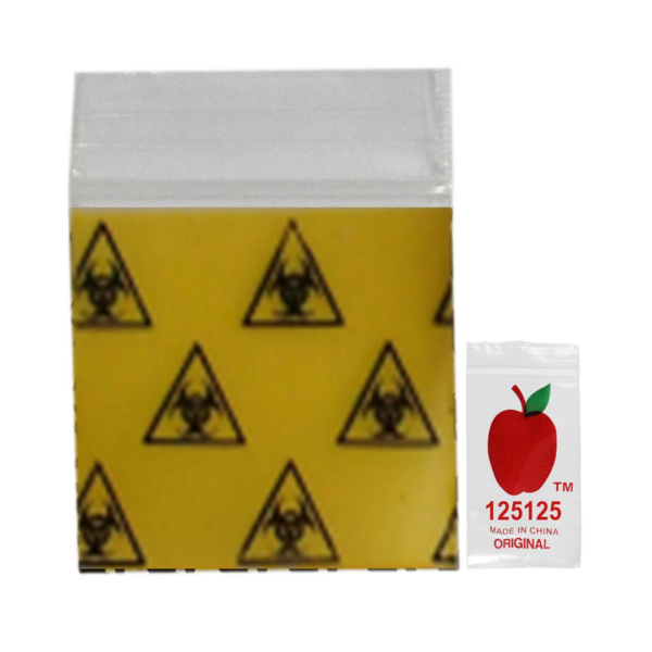 Original Apple Mini Ziplock Bags – Biohazard Bag (32mm x 32mm) x100