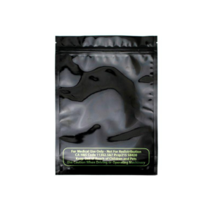 Mylar Smell Proof Bag – Black 1 ounce (10 pack)
