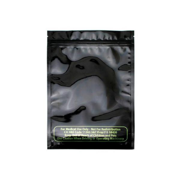 Mylar Smell Proof Bag – Black 1 ounce (10 pack)