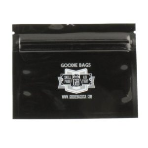 "Goodie Bags Smellproof Ziplock Bags - Small Black (4""x3"") x10"