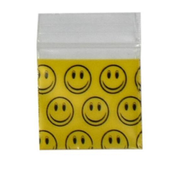 Original Apple Mini Ziplock Bags - Smiley Face (32mm x 32mm) x100