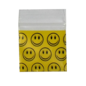 Original Apple Mini Ziplock Bags - Smiley Face (25mm x 25mm) x100