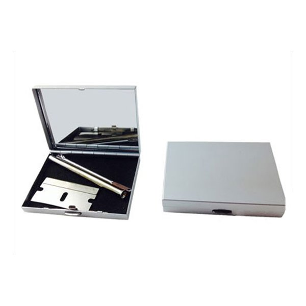 Snuff Kit With Aluminium Case with Built in Mirror