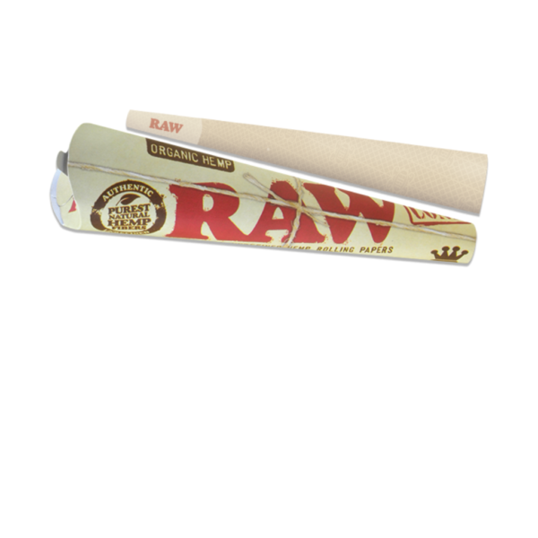 RAW Organic Hemp Pre-Rolled King Size Cone - 3 Pack