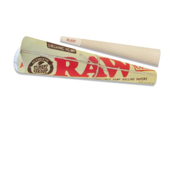 RAW Organic Hemp Pre-Rolled 1 ¼ Size Cone - 6 Pack