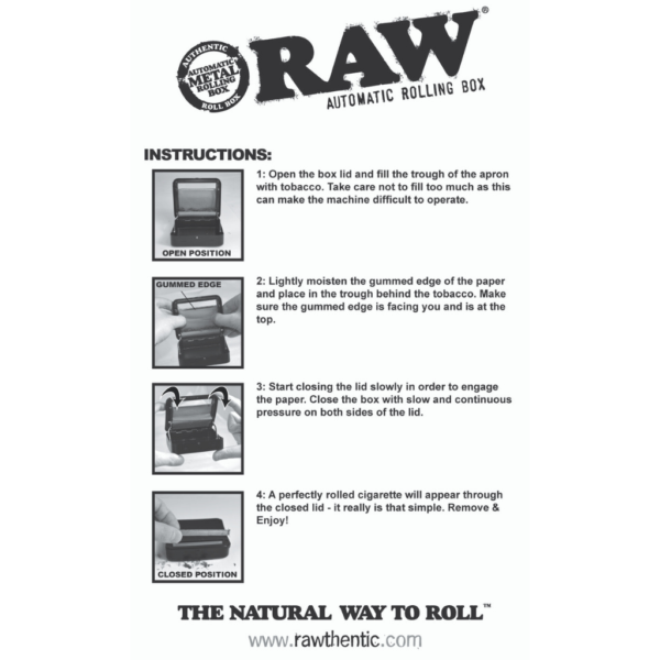 RAW Automatic Rolling Box: 70mm & 79mm