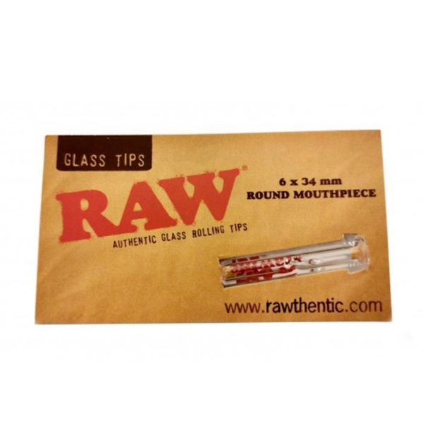 RAW Glass Filter Tip Single - Round Mouthpiece