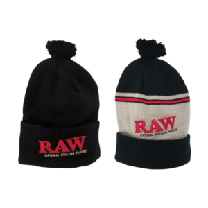 RAW X Rolling Papers Pompom Hats