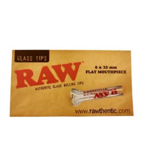 RAW Glass Filter Tip Single - Flat Mouthpiece
