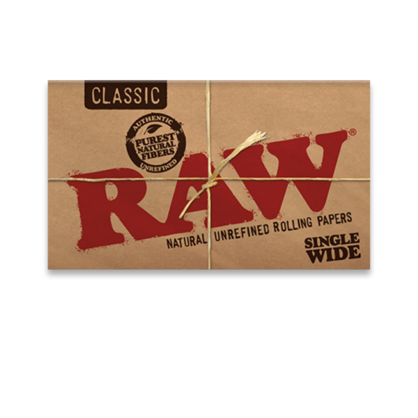 RAW Classic Single Wide Rolling Papers – Double Feed
