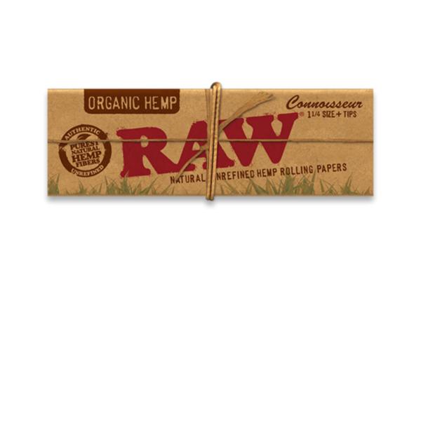 RAW Organic Hemp Connoisseur 1¼ Size + Tips