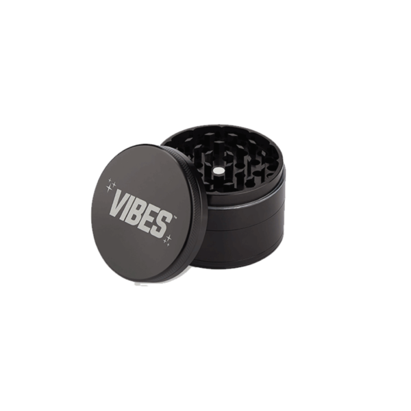 Vibes X Aerospaced 4 Piece Grinder – Black