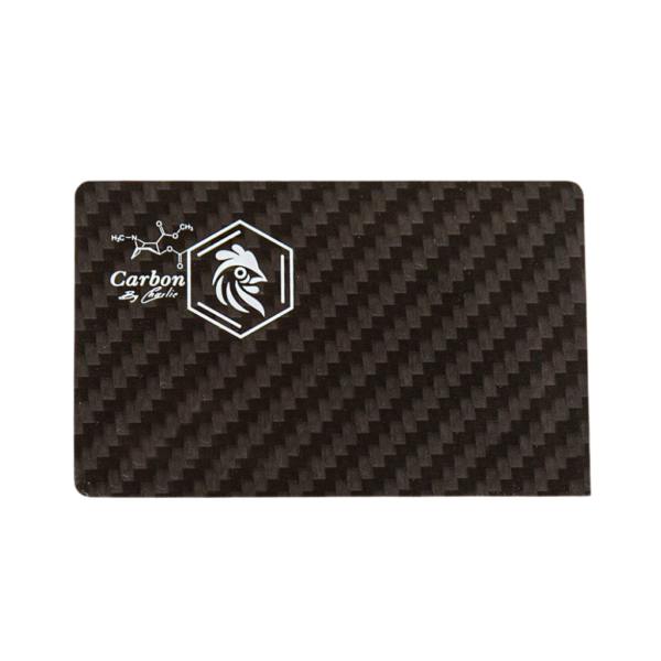 Pure Carbon Fibre Card – White or Pink