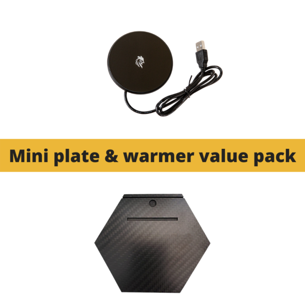 Mini Plate & Warmer Value Pack: Carbon By Charlie