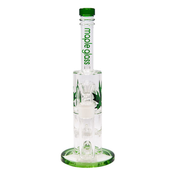 Maple Glass Honey Comb With Tree Percolator & Splash Guard Maple Glass Water Pipe – Green
