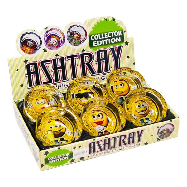 Emoji Glass Ashtray