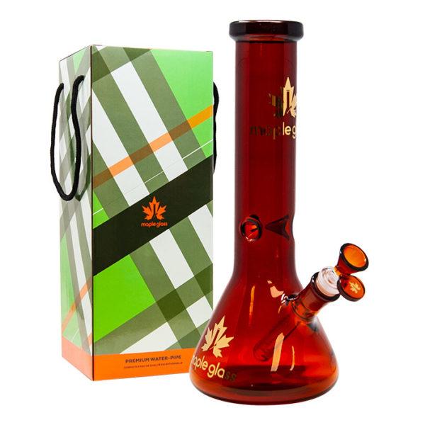 "Maple Glass Amber Colour Beaker Water Pipe 12""/30.4cm"