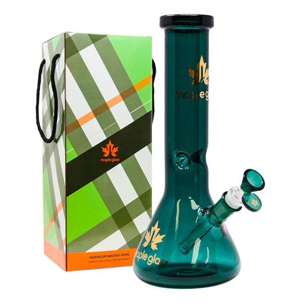 """Maple Glass Teal Colour Beaker Water Pipe 12""""/30.4cm"""