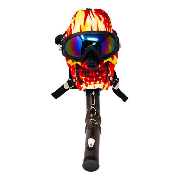 Fiery Ice Gas Mask Water Pipe