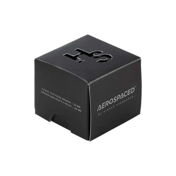 Aerospaced by Higher Standards Toothless 4 Piece Grinder – Black 63mm